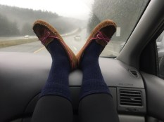 Headed to Snoqualmie/Hyak. Pre-snowshoe feet