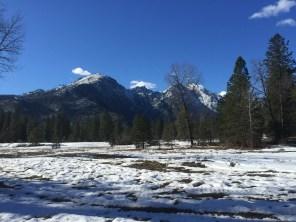 Snowshoeing near Sleeping Lady Mountain