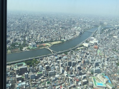 The view from Tokyo Sky Tree. No Mt. Fuji for us today.
