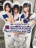 Maid cafes are big in Akihabara. The feminist in me couldn't go in.