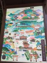 Map of Fushimi Inari