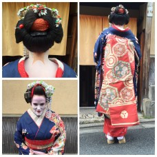 Dressing up as a maiko/geisha is very popular for young Japanese women in Kyoto. It was so fun!