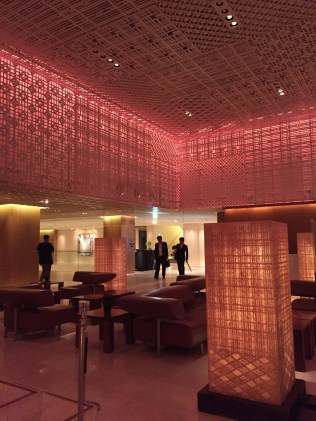 The lobby of our Kyoto hotel.