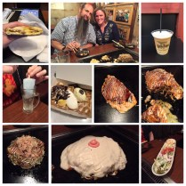 """Breakfast sandwich, butter beer, hard alcohol with a bubble gum popsicle, waffle. Okonomiyaki (like an omelet) is delicious! We split 4 different ones including the restaurant's special """"oppi"""" or big breast."""