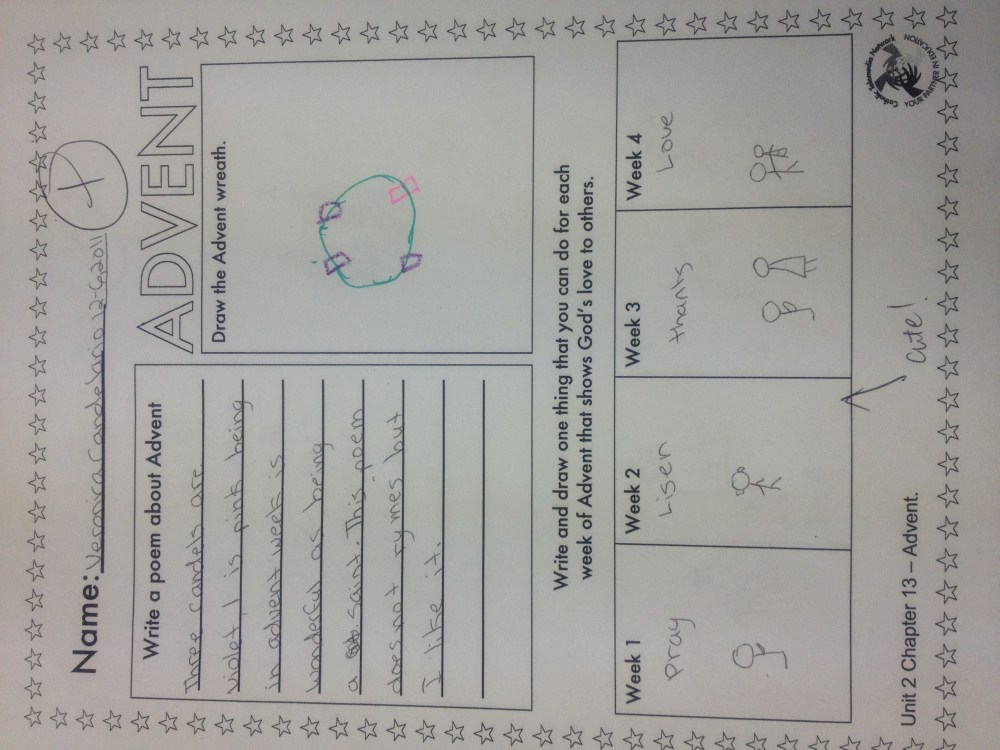 medium resolution of advent worksheet   Mrs Sosa's Class