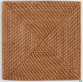 Square Rattan Chargers