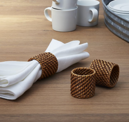 Artesia Honey Rattan Napkin Rings