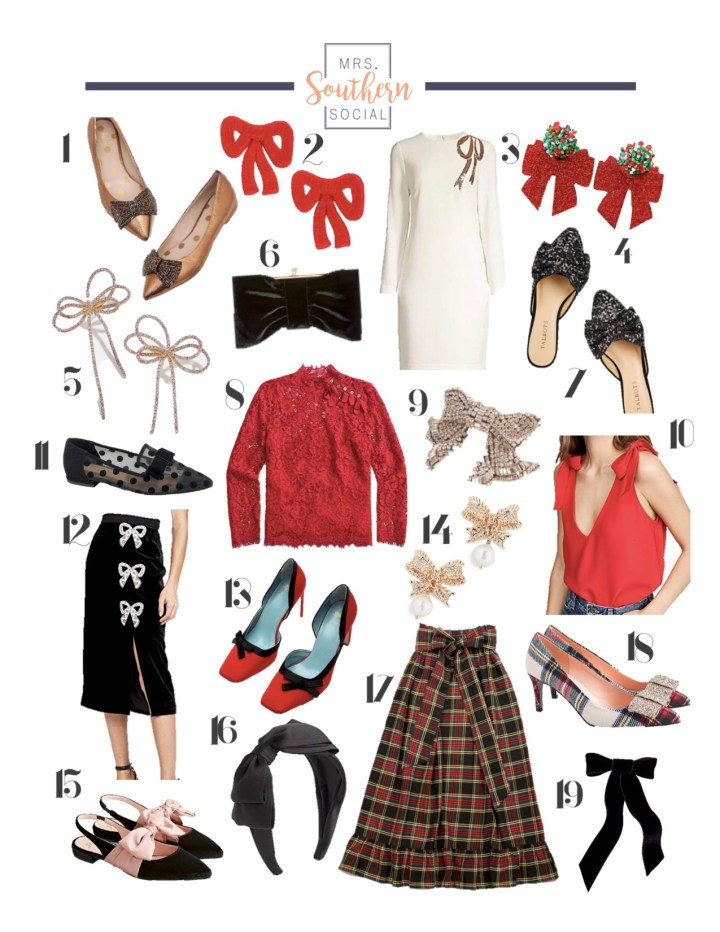Dress to the Decor- Holiday Bows