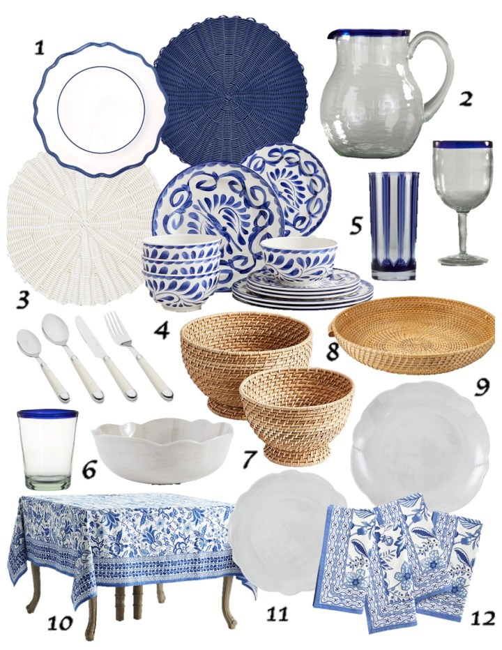 Delegate the Details: Blue & White Outdoor-Friendly Tabletop