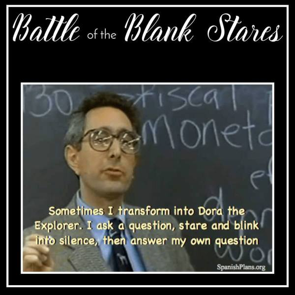 The Battle of Blank Stares – You aren't a kids' show!