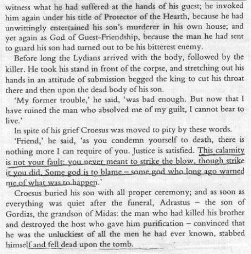 READING COMPREHENSION: excerpt from the Histories of Herodotus