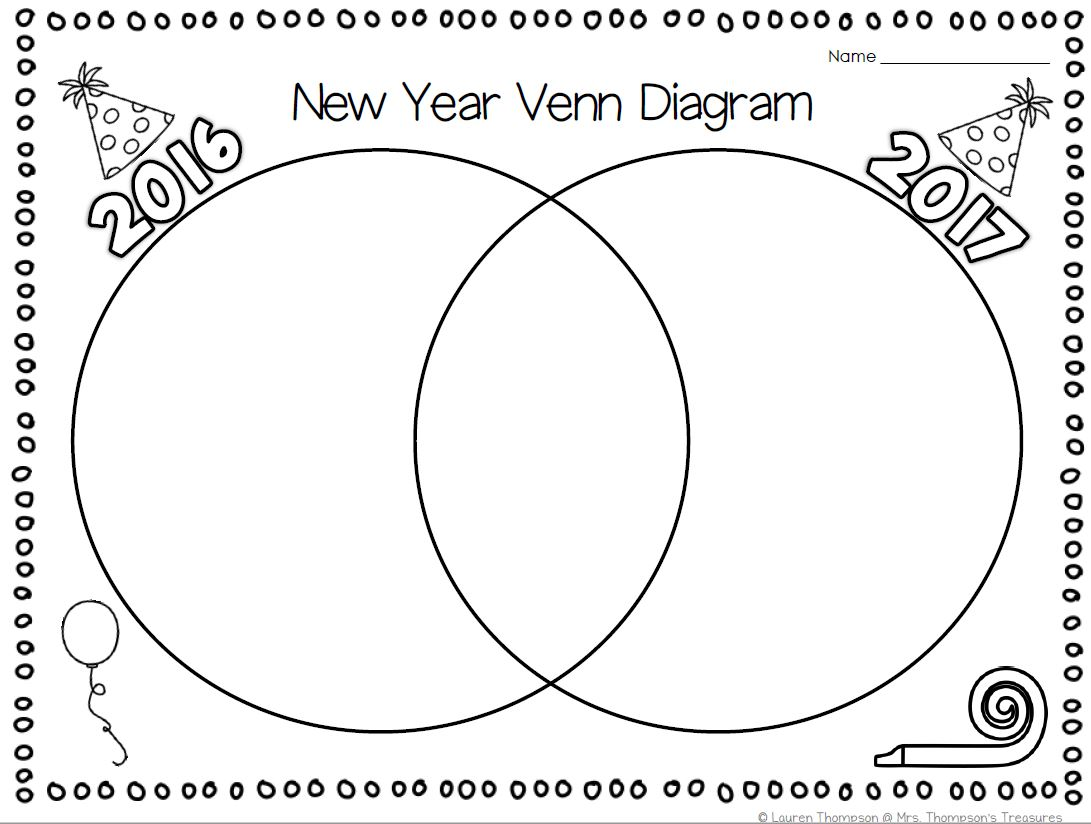Free New Year Venn Diagram Activity