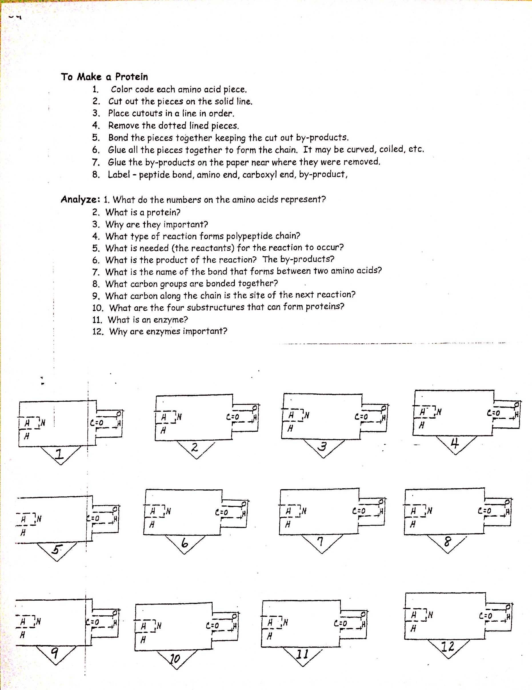 Intro Organic Chemistry Worksheet