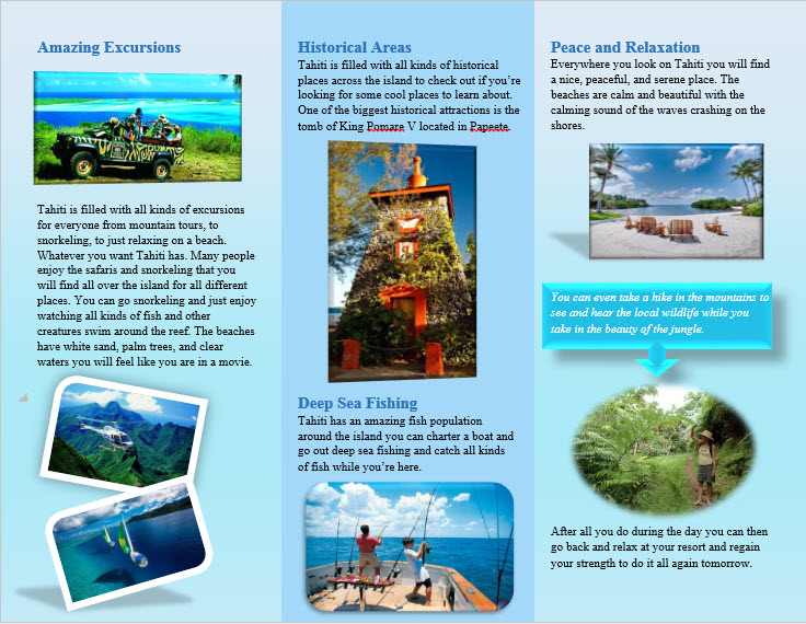 Travel Brochure Project MR STYLIADIS CLASSROOM WEBSITE