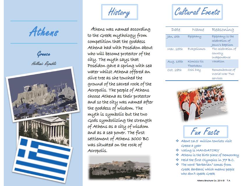 Travel Brochure Project MR STYLIADIS CLASSROOM WEBSITE