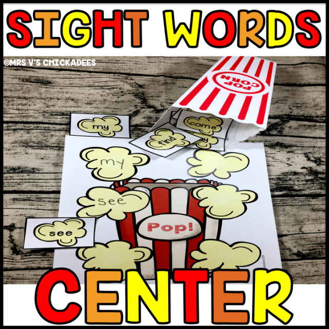 An engaging hands on kindergarten sight word center to help students master Fry's First 100 sight words