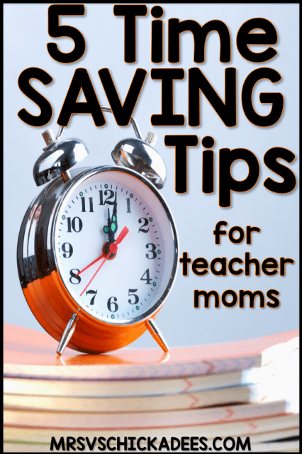 Time saving tips for working moms to help you maximize your time at home and feel less stressed.