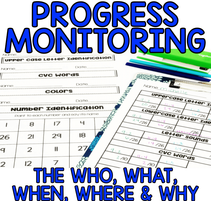 All about progress monitoring for general education and special education students. Learn how to collect data for RTI and IEP's, along with dates driven instruction. Data forms, tracking guides and more
