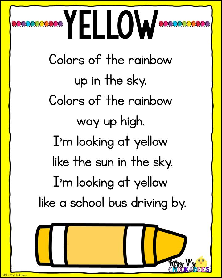 Color Activities For Preschool - Mrs V's Chickadees