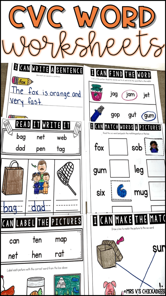 cvc-words-with-pictures-worksheets