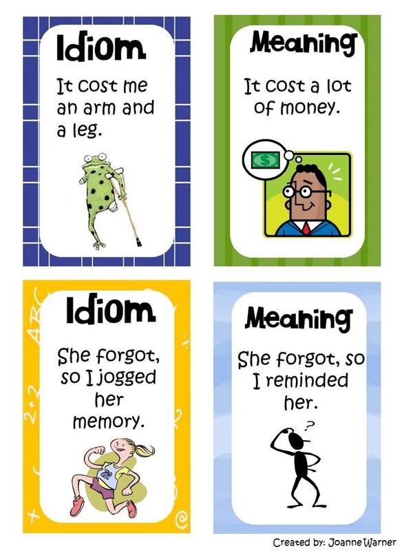 Idiom Mrs Warner's Learning Community