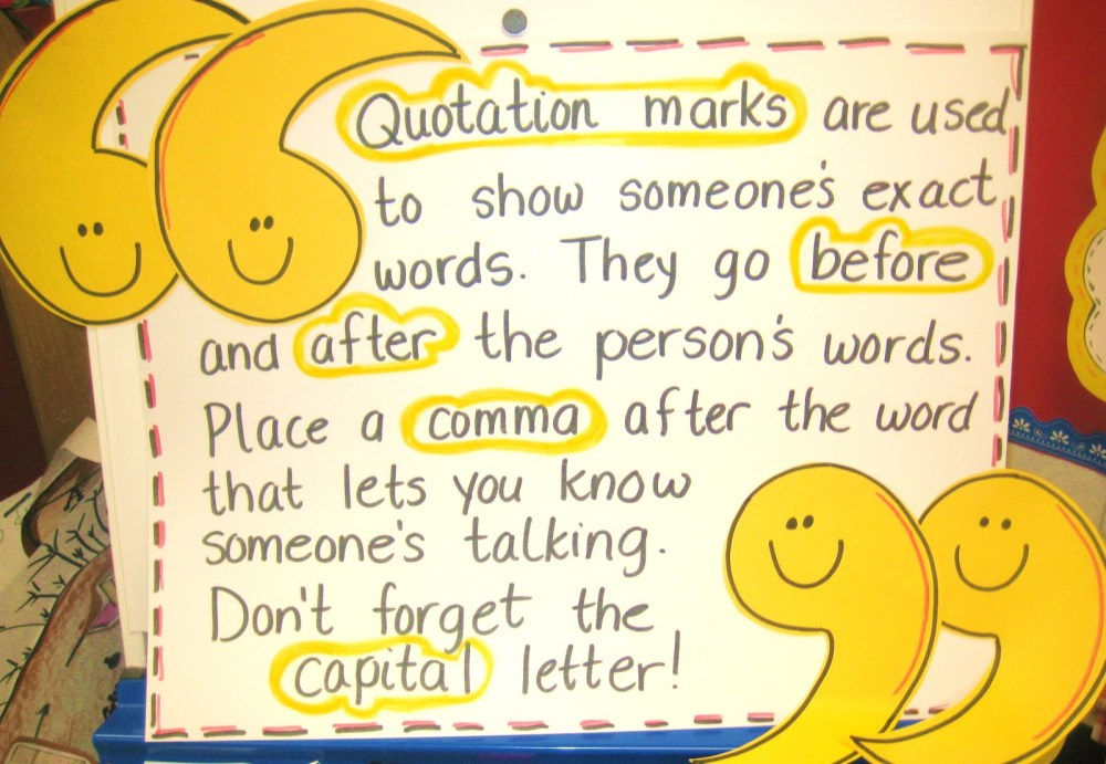 medium resolution of Dialogue Using Quotation Marks - Mrs. Warner's Learning Community