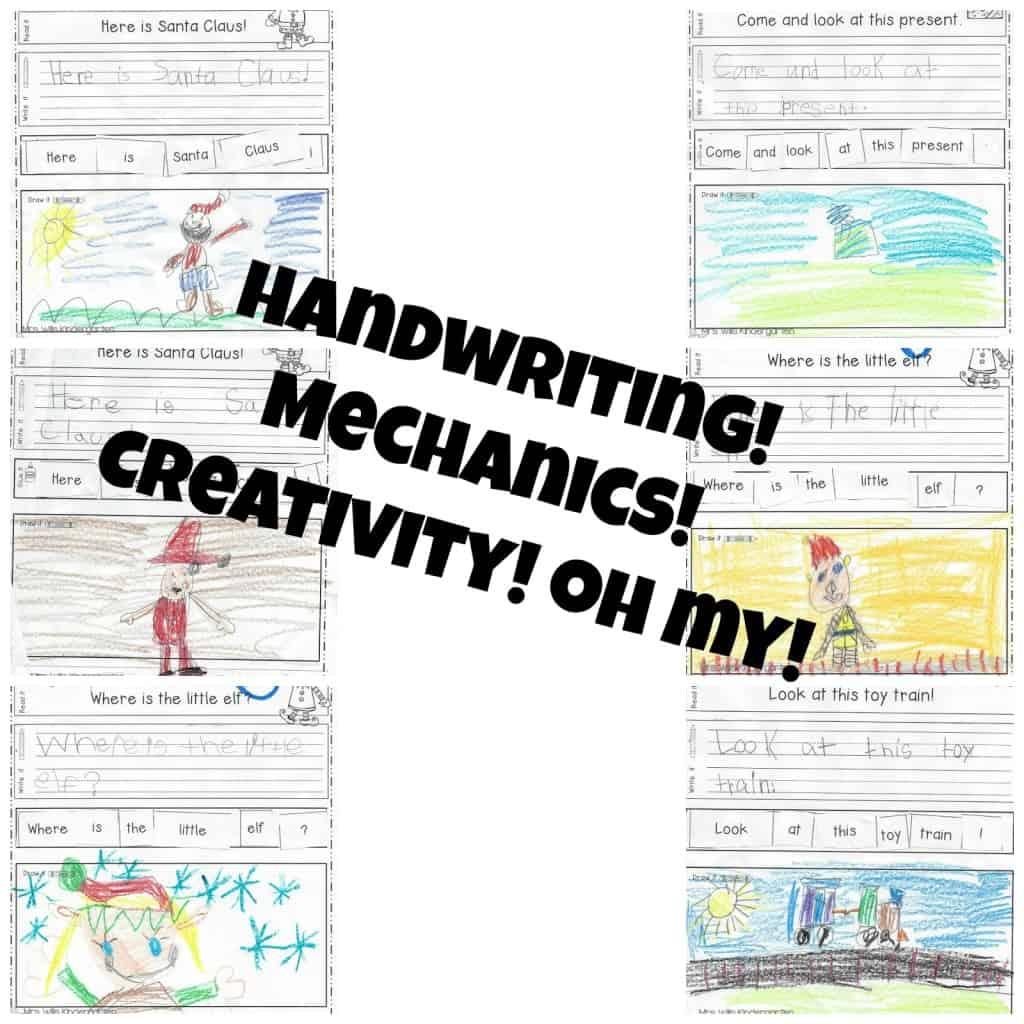 Kindergarten Handwriting And Sentence Mechanics Resources