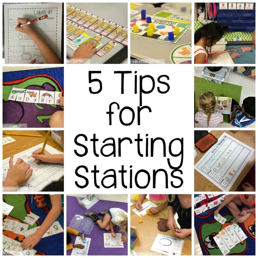 Starting Kindergarten Stations