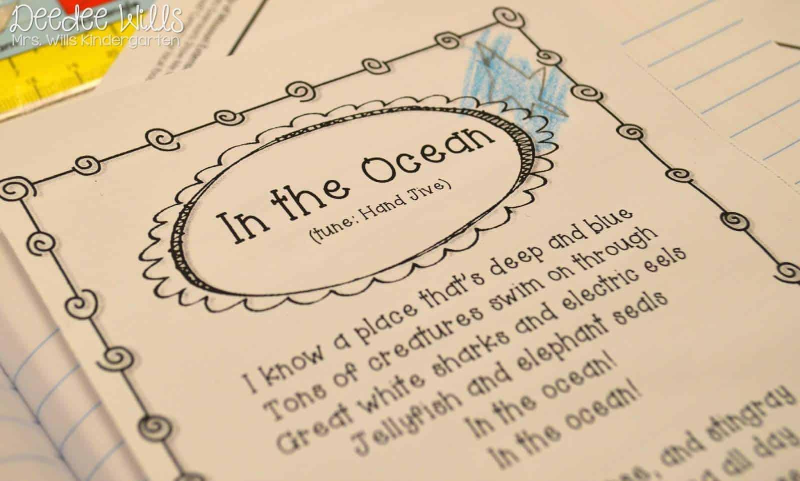 hight resolution of Ocean Week Lesson Plans for Kindergarten \u0026 1st