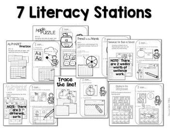 Kindergarten Centers: Black ink ONLY for August