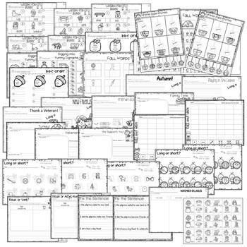 Save My INK: November 1st Grade Math and Literacy