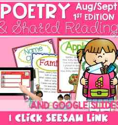 SEESAW Poetry: Poems for August and September - Mrs. Wills Kindergarten [ 960 x 960 Pixel ]