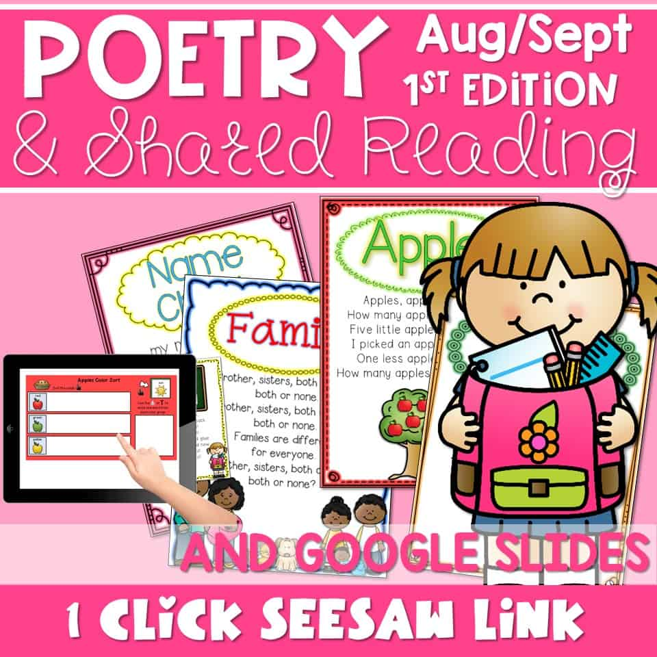 hight resolution of SEESAW Poetry: Poems for August and September - Mrs. Wills Kindergarten