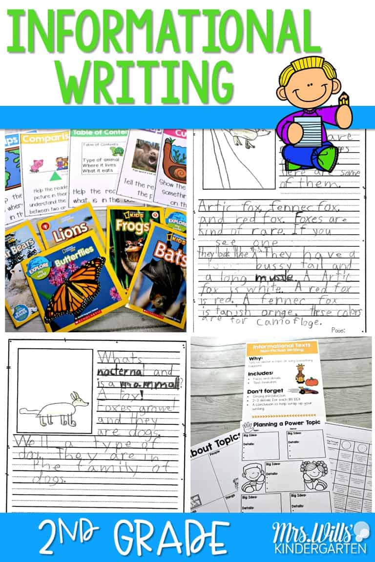 hight resolution of 2nd Grade Informational Writing Samples and Teaching Ideas