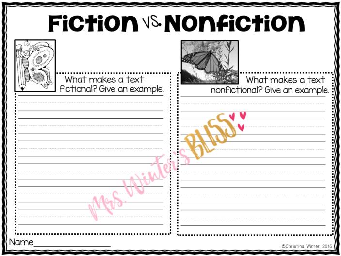 comparing fiction nonfiction