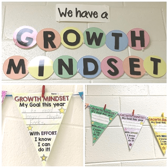 growth mindset goal worksheet