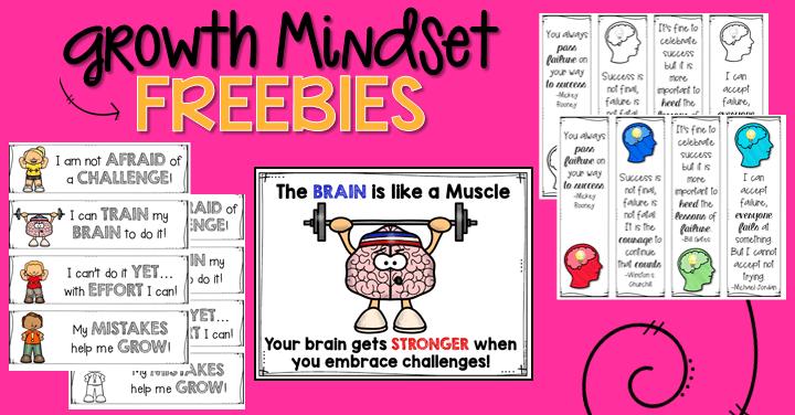 Growth Mindset Ideas & Freebies