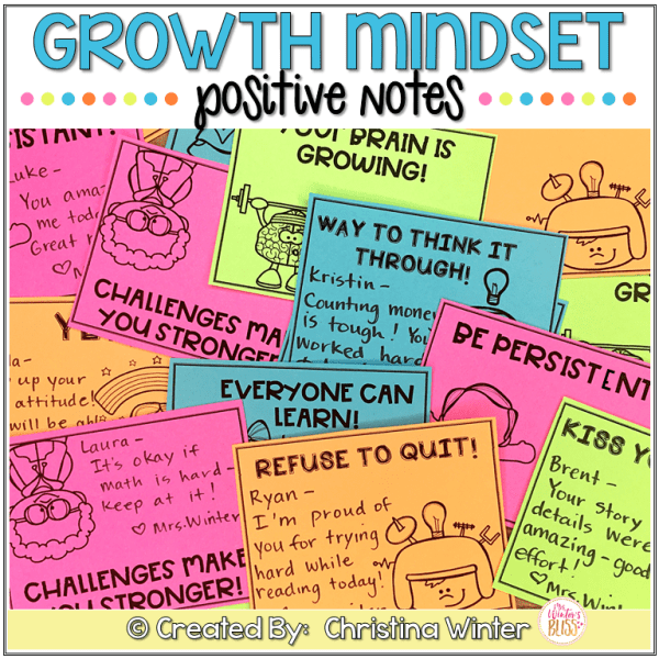 Growth Mindset Positive notes