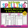 3rd grade spelling word list and spelling activities
