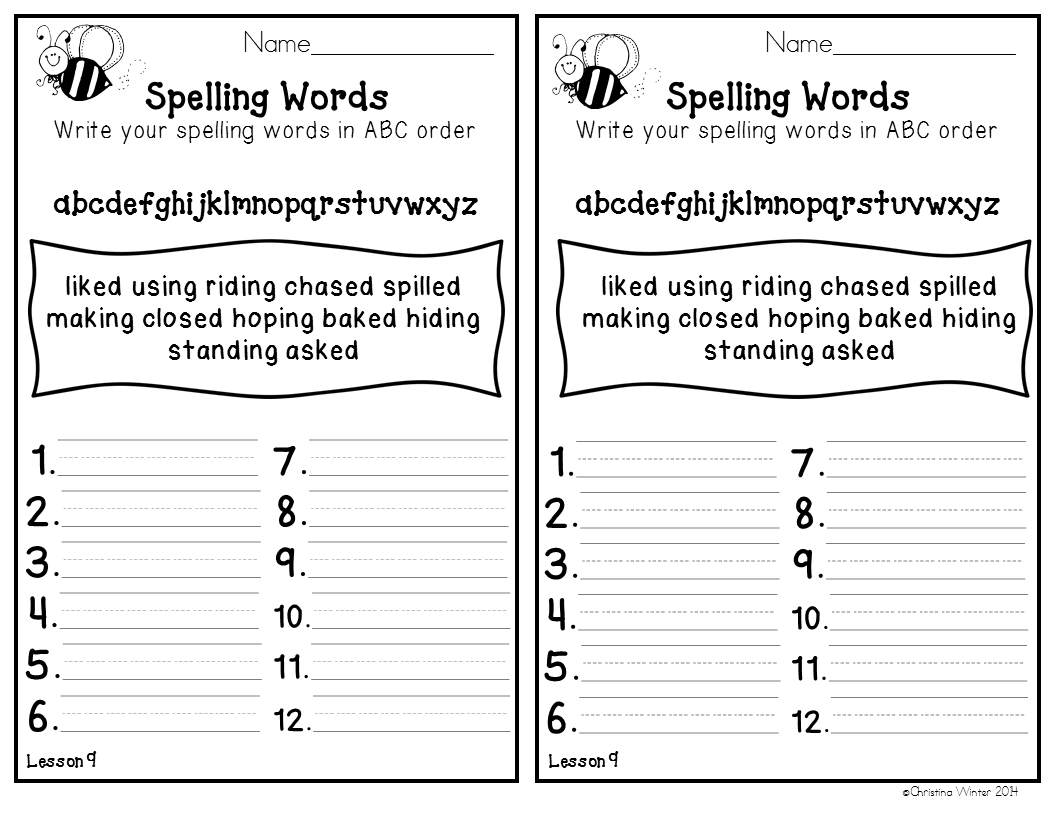 hight resolution of 2nd Grade Spelling Assessments and Word Lists EDITABLE {year long bundle} -  Mrs. Winter's Bliss