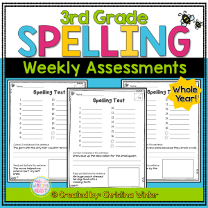 3rd grade spelling word test assessments