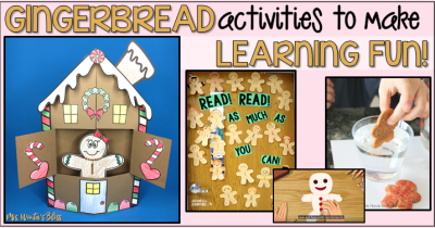 gingerbread man activities for the classroom