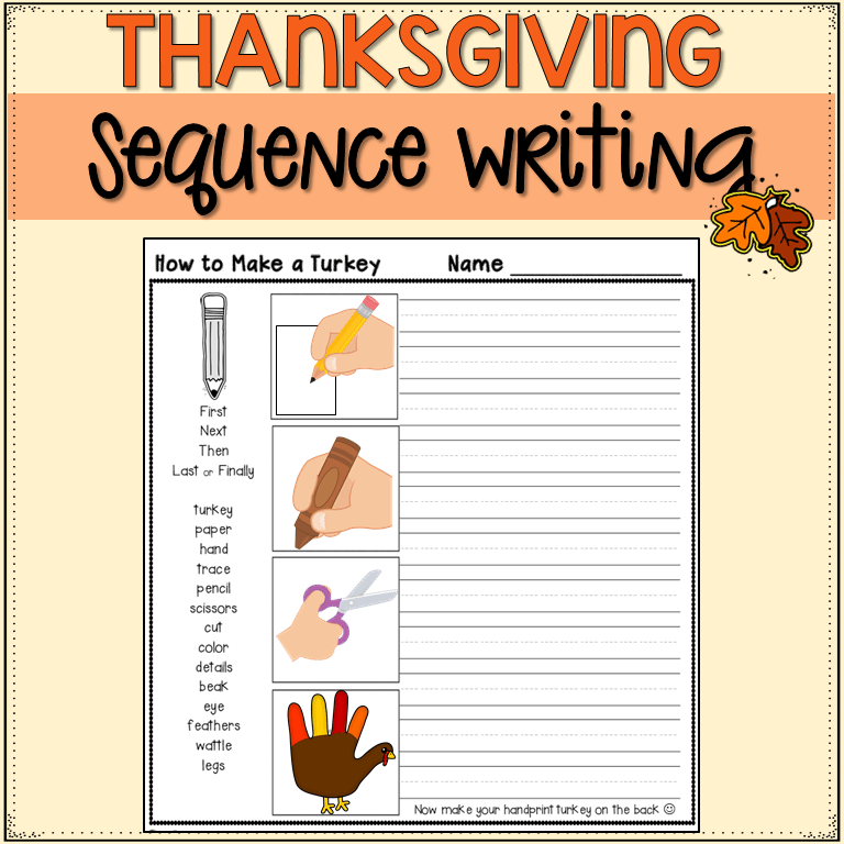 how to make a turkey writing