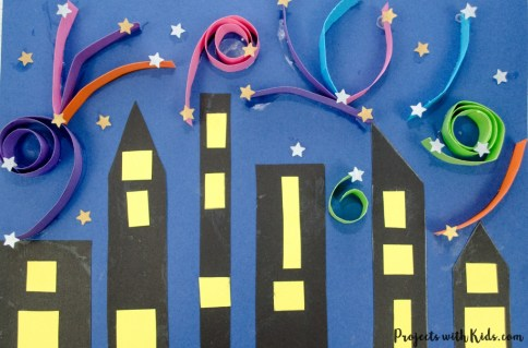 new years activities free paper craft