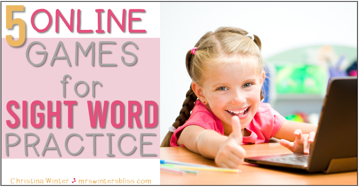 5 Online Games for Sight Word Practice