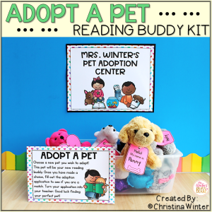 adopt a pet reading buddy kit