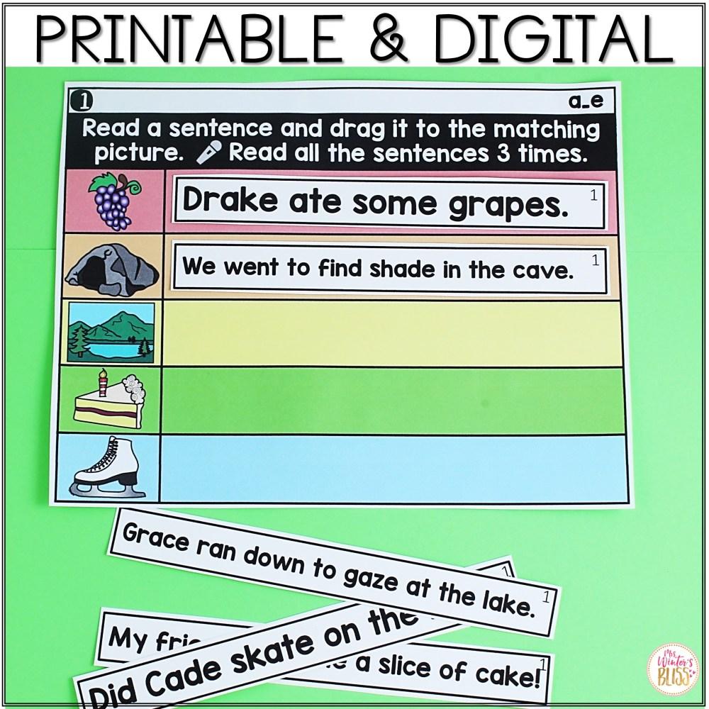 medium resolution of Digital \u0026 Printable Phonics - Long Vowel Phonics Sentences for Distance  Learning - Mrs. Winter's Bliss