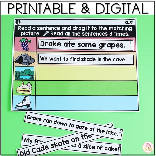 small resolution of Digital \u0026 Printable Phonics - Long Vowel Phonics Sentences for Distance  Learning - Mrs. Winter's Bliss