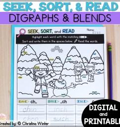 Blends \u0026 Digraphs - Printable and Digital PRELOADED Seesaw™ \u0026 Google  Classroom™ - Mrs. Winter's Bliss [ 2400 x 2400 Pixel ]