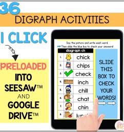 Digital Phonics Activities Digraphs - distance learning Seesaw Google  Classroom - Mrs. Winter's Bliss [ 2400 x 2400 Pixel ]